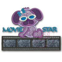 Pup Movie Star Applique Design