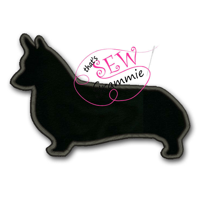 Corgi PWC Silhouette Applique Design