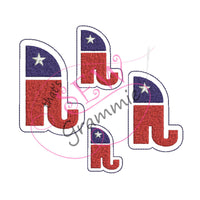 ITH Republican Raised Right Feltie Design In the Hoop