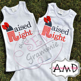 Raised Right Applique Design