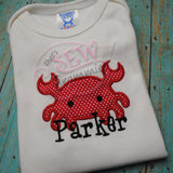 Baby Crab Applique Design