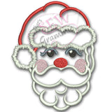 Santa Face Applique Design