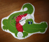"Santa Gator Applique Design ""Rougaru"""