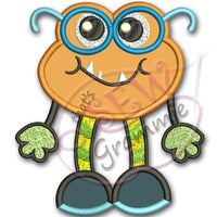Little Monster Simon Applique Design