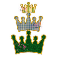 Simple Crown Applique Design only $1