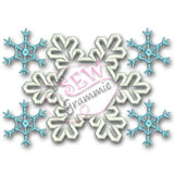 Snowflake Monogram Frame Applique Design