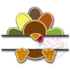 Split Turkey Applique Design