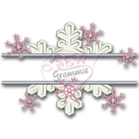 Split Snowflake Applique Design