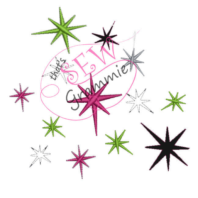 Just Star Bling Embellishment Embroidery Designs