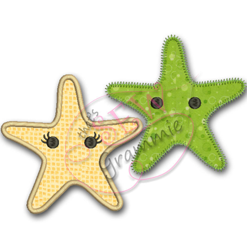 Baby Starfish Applique Design