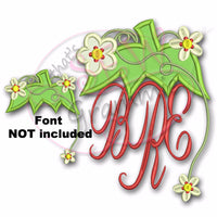 Strawberry Monogram Topper Applique Design