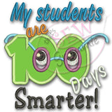 My Students 100 Days Smarter Applique Design