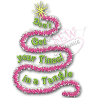 Don't Get Tinsel in Tangle Embroidery Design
