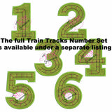 Train Track Number Applique Design THREE