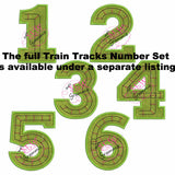 Train Track Number Applique Design TWO