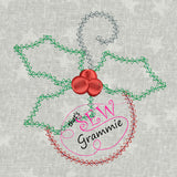 Vintage Ornament Applique Design 4x4