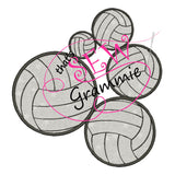 Volleyball Applique Design
