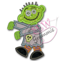 Zombie Boy Applique Design #2