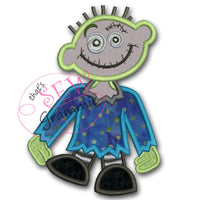 Zombie Boy Applique Design #3
