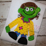 Zombie Girl Applique Design #3