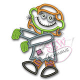 Zombie Girl Applique Design #2