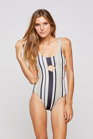 CISCO ONE PIECE - PANTAI STRIPE
