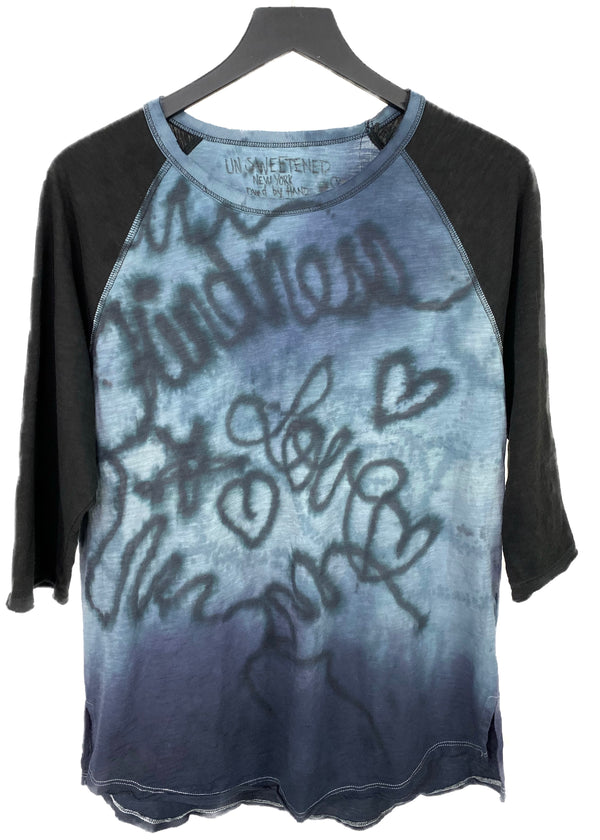 LUKE'S AIRBRUSH KINDNESS BASEBALL TEE