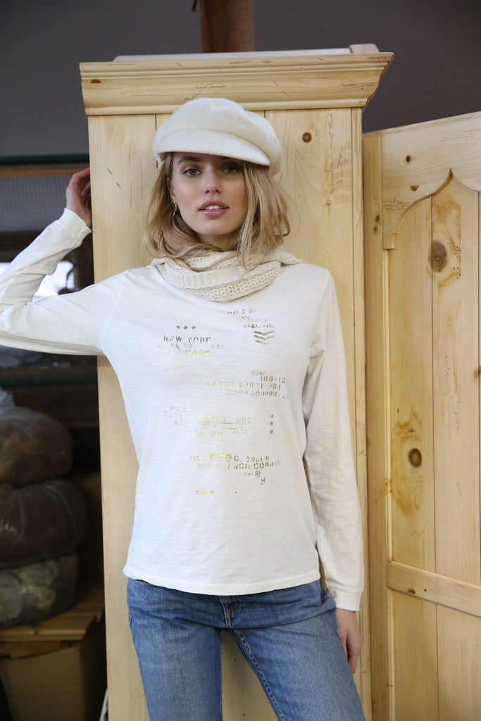 Zip Code Ivory Long Sleeve