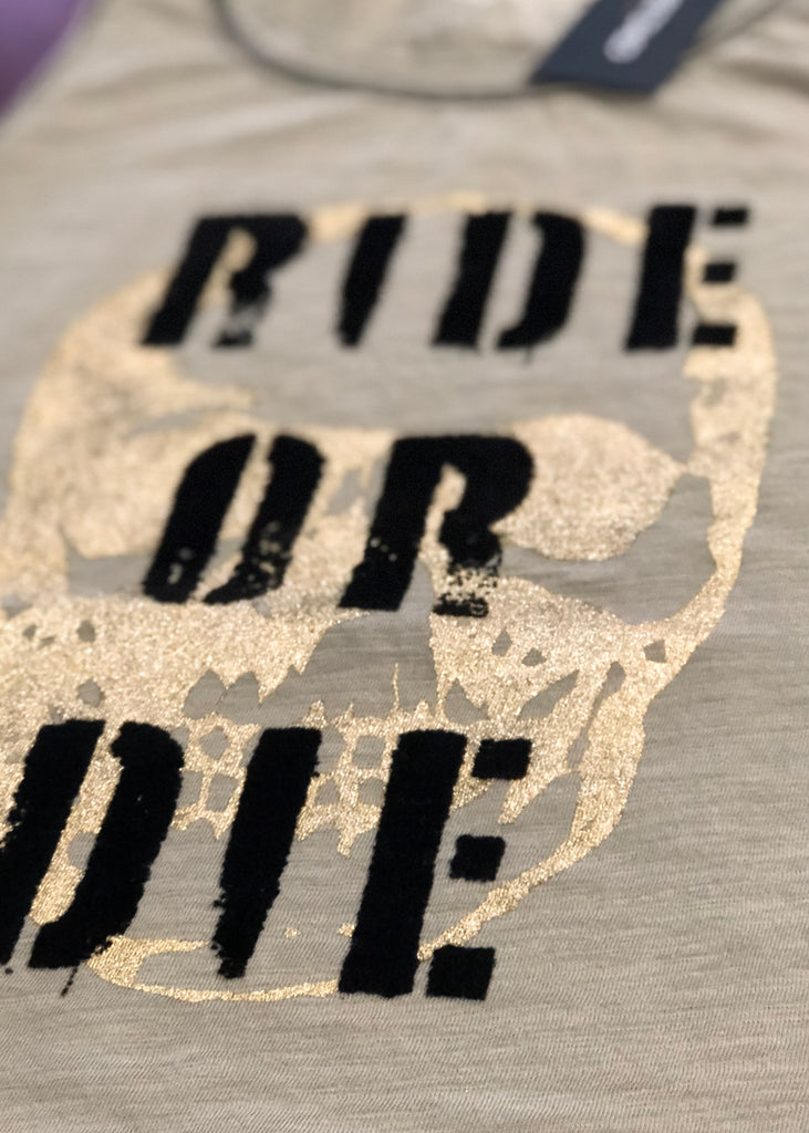 Ride or Die Army Muscle Tank
