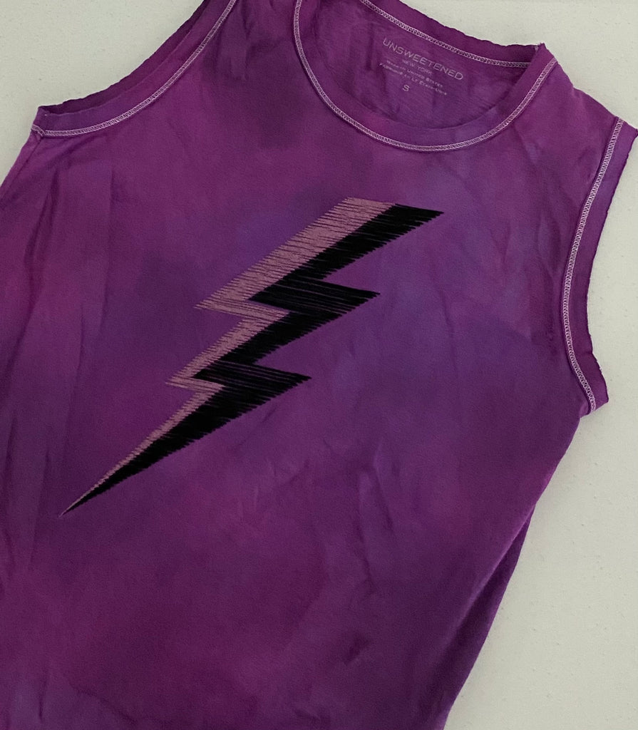 Jagged Eggplant Muscle Tank