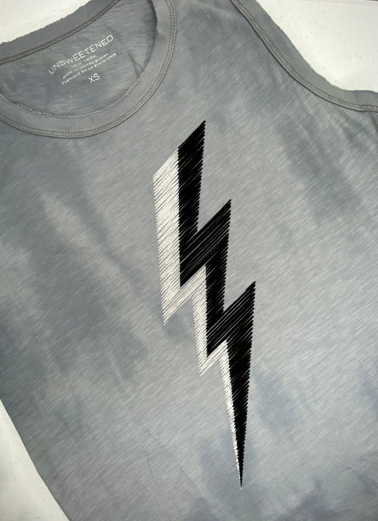 Jagged Silver Muscle Tank
