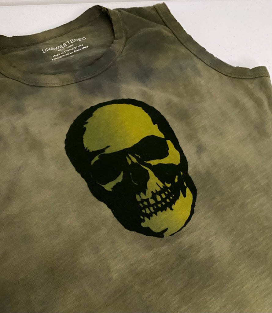 Skull Army Muscle Tank