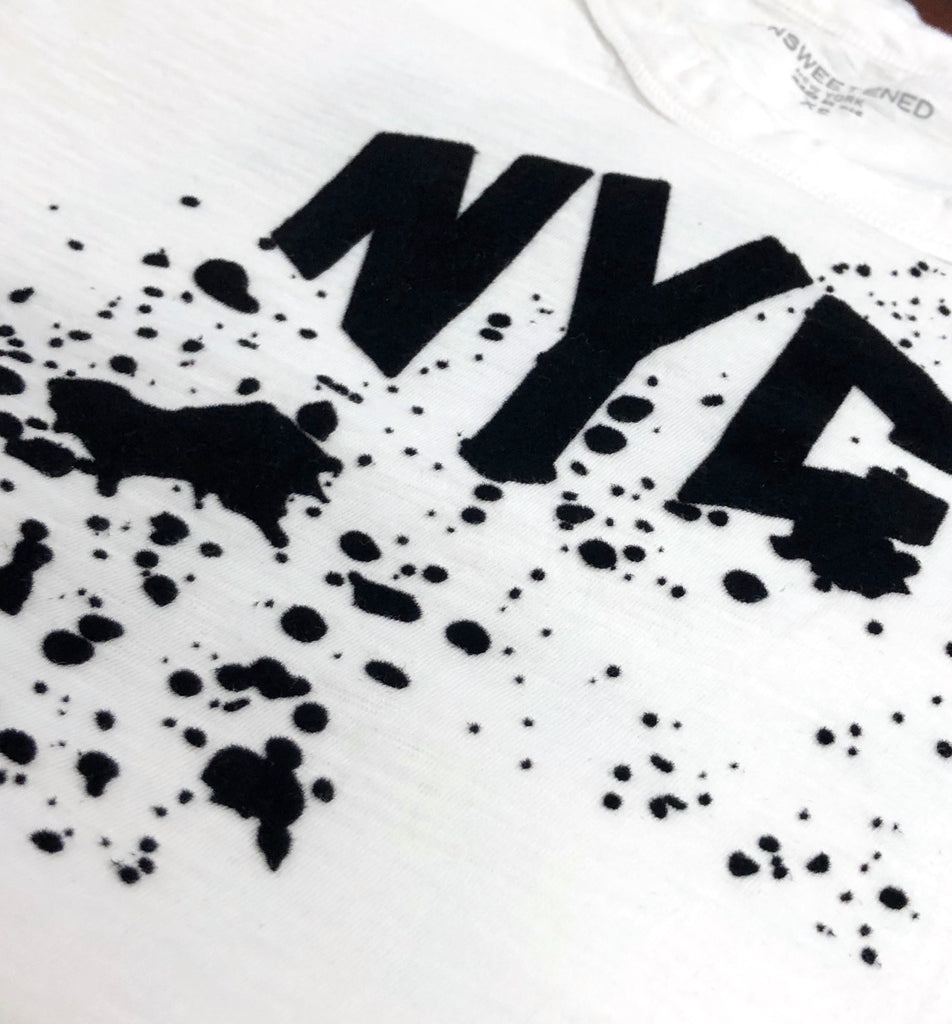 NYC Splatter Black Muscle Tank