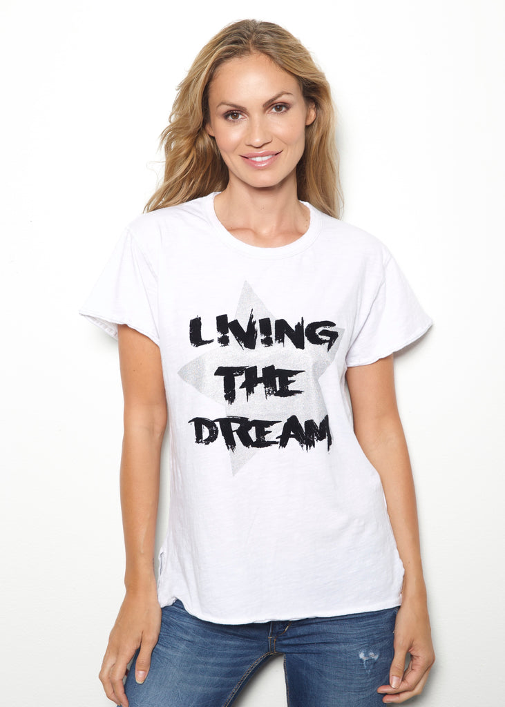 Living The Dream White Tee
