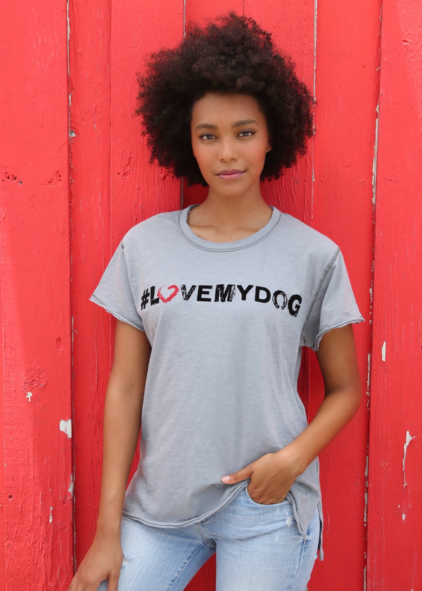Love My Dog Grey Tee