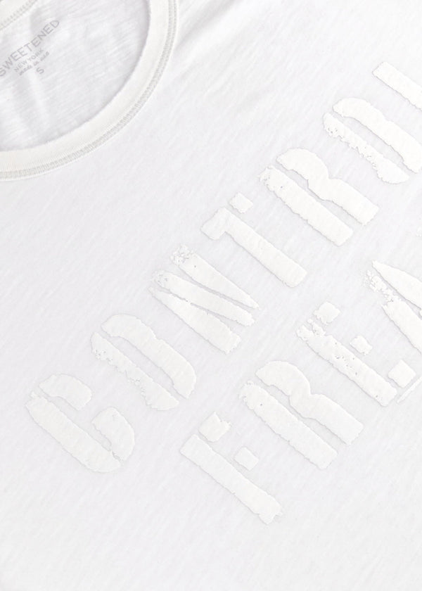 Control Freak White Tee