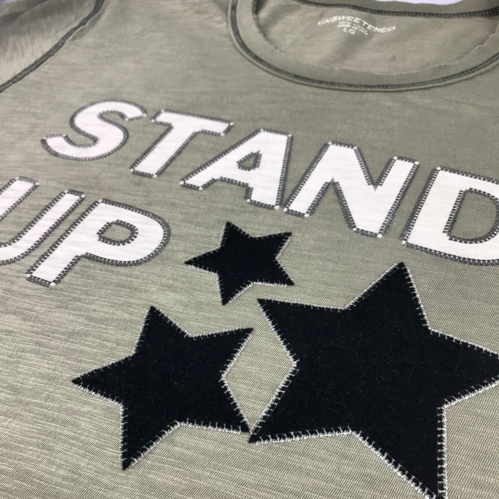 Stand UP White Tee