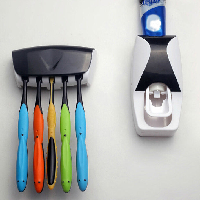 Toothpaste Dispenser + Holder set - dabDeal