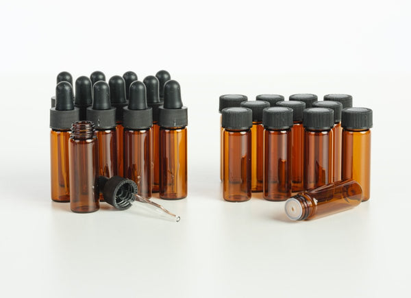 1 Dram Amber Glass Vials