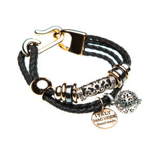 Braided two-tone Bracelet (Black)