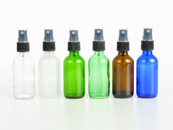 2 oz Glass Bottle with Pump Spray - 6 Colors Available