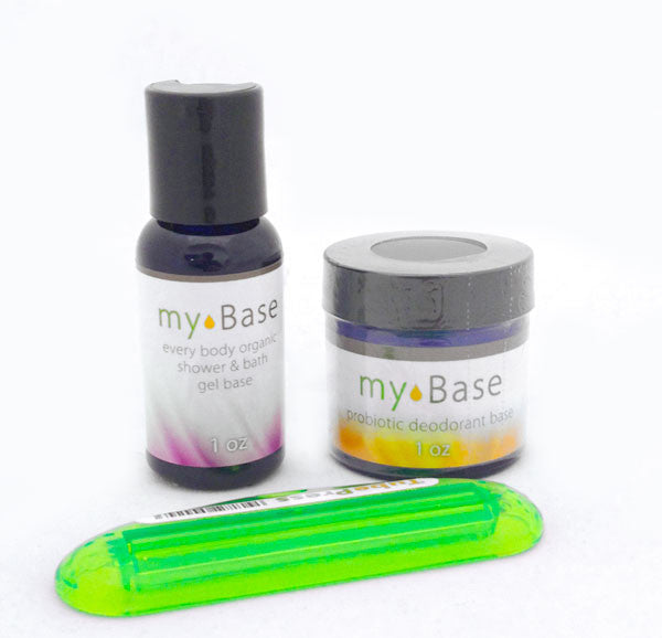 My Base Travel Pack 1oz of Deodorant and 1 oz of Organic Body Wash