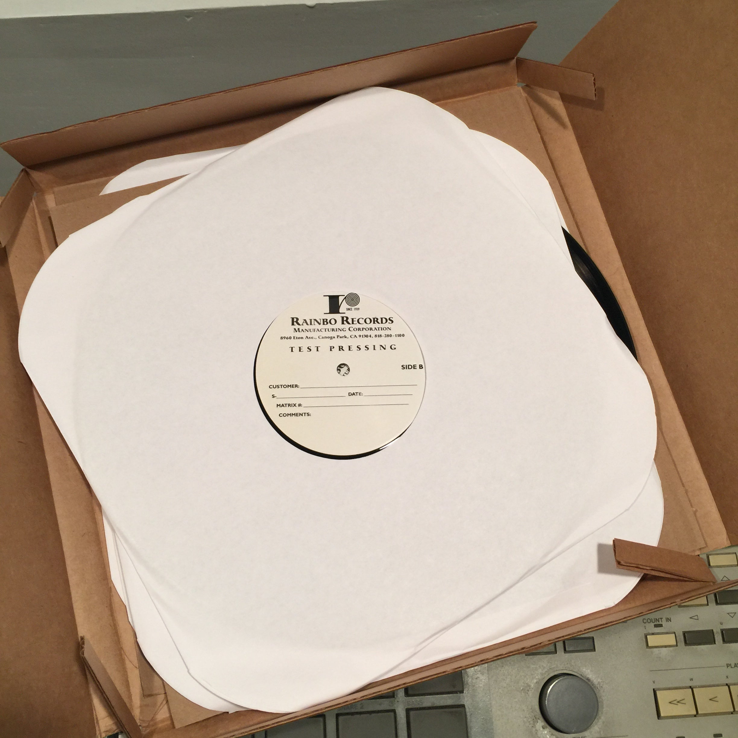 this is how i check my test pressings – tres records