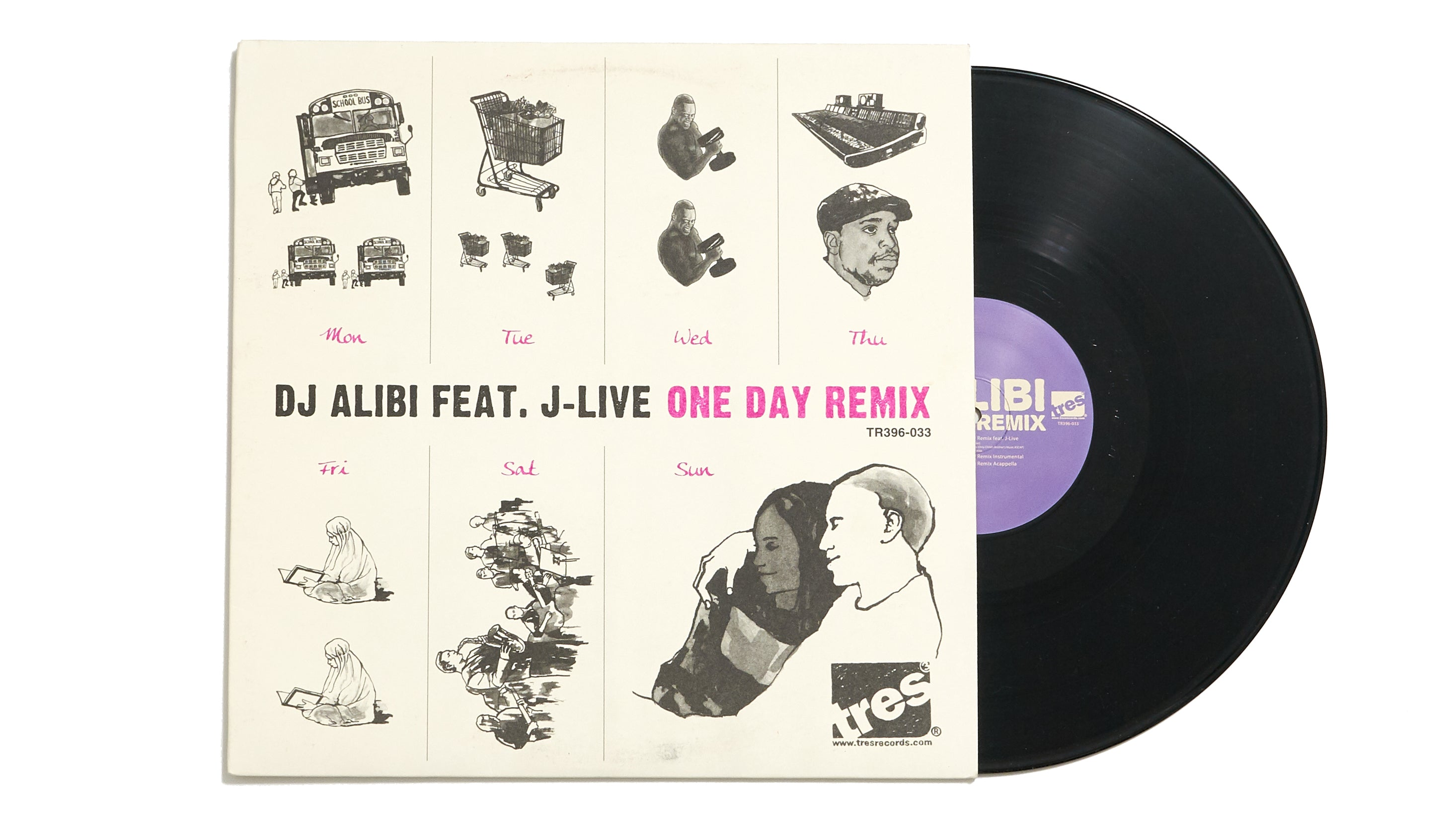 "DJ Alibi ""One Day Remix feat. J-Live"" (12"")"
