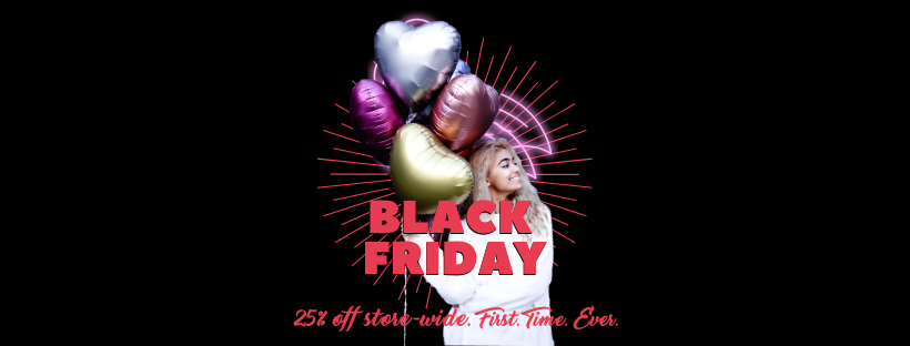 Black Friday | melbourne balloons | The Heyday Club