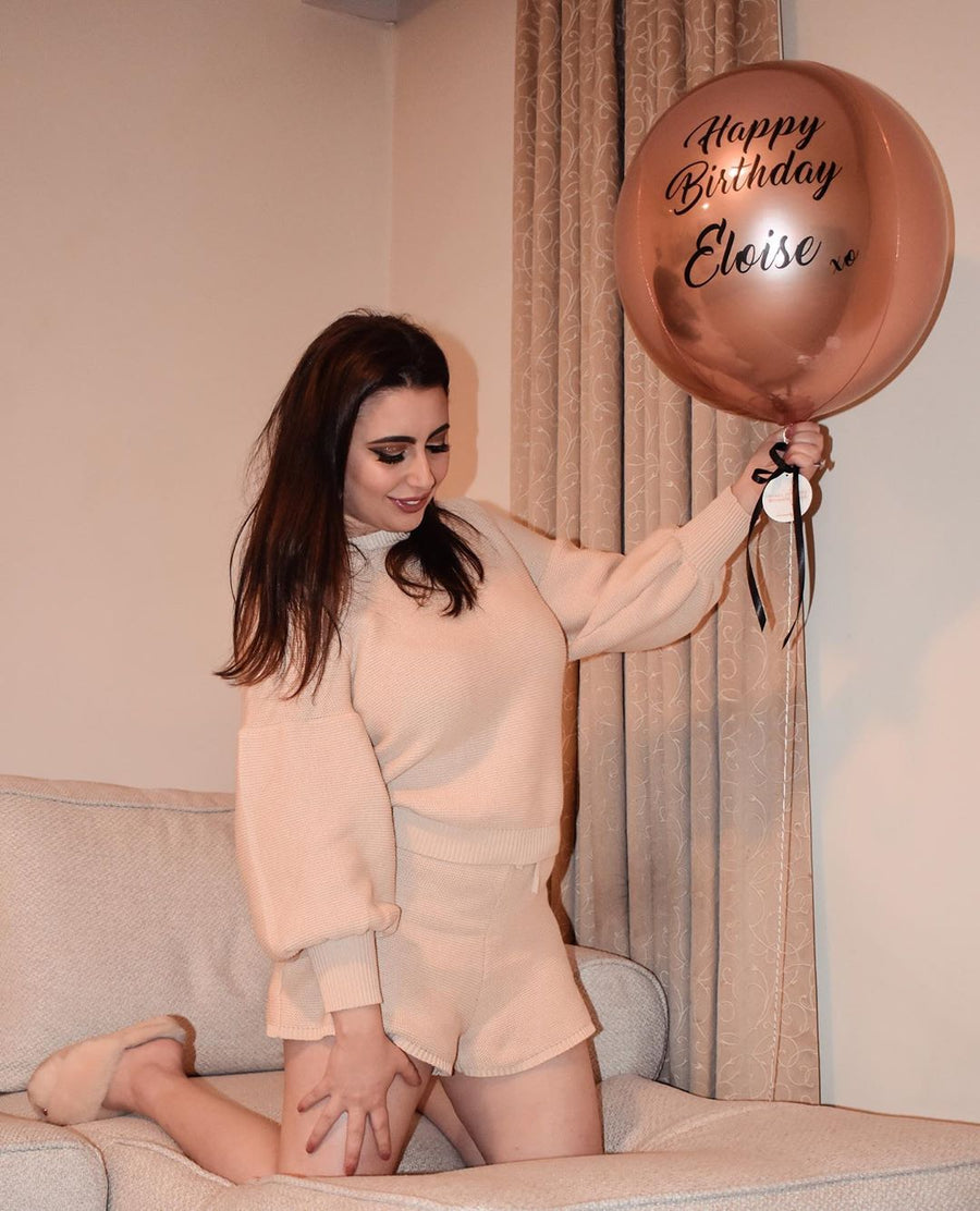 personalised satin balloon