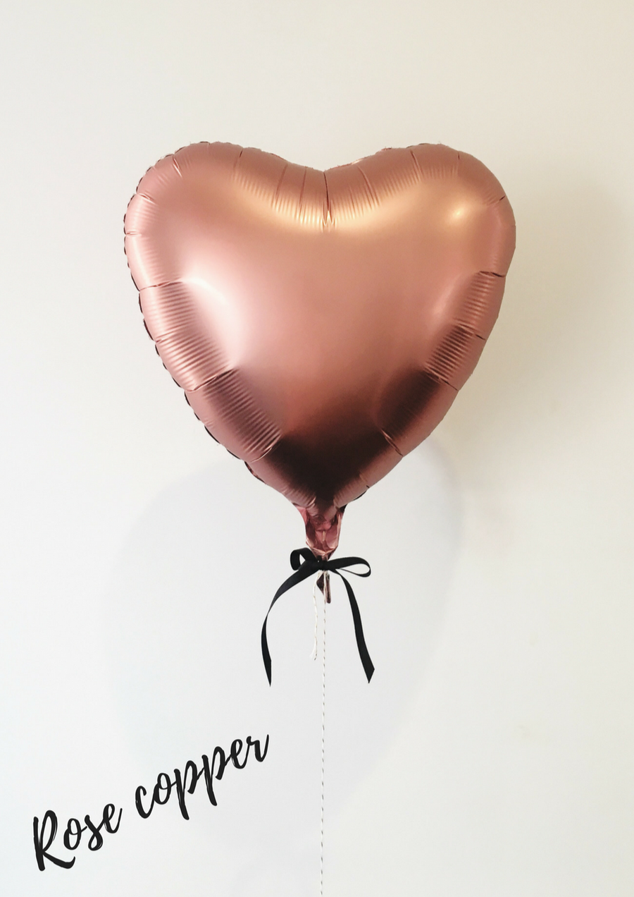 Rose copper love heart balloon