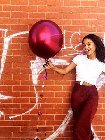 Ruby metallic balloon [SOLD OUT]