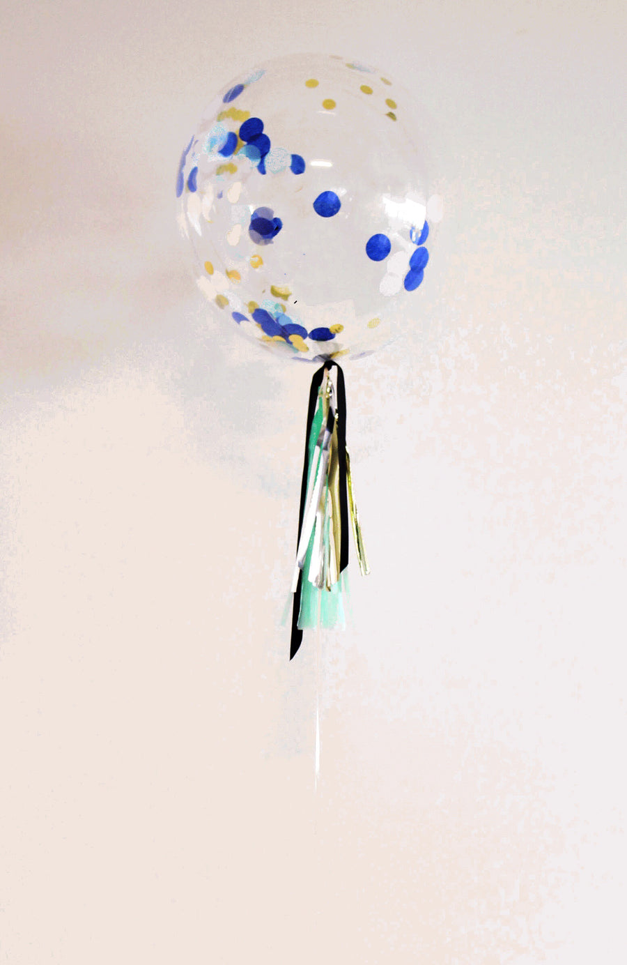 blue confetti bubble balloon - The Heyday Club