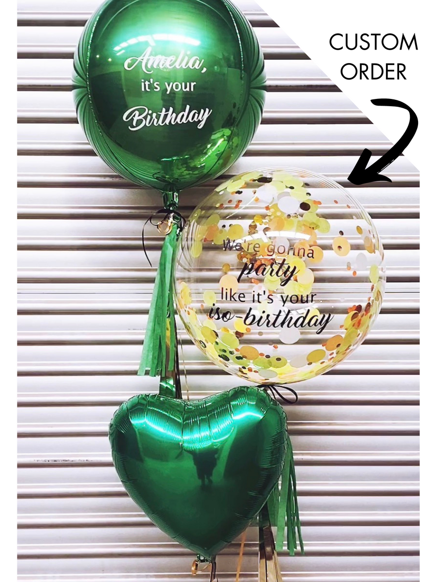custom balloon order | The Heyday Club | helium balloon bouquet melbourne